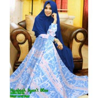 Gamis Hasbiya Syar'i Blue Jumbo