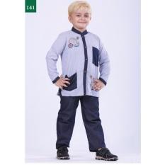 Garsel Fashion Baju Setelan Muslim Anak Laki-Laki FWR 0748 - BIRKOM Bahan cotton + denim