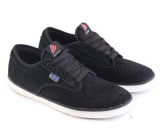 Garsel L079 Sepatu Sneaker Pria - Kulit Suede - Bagus (Hitam)