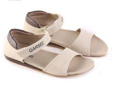 Garsel L360 Sandal Flat Wanita - Synth - Bagus (Cream)