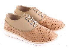 Garsel L576 Sepatu Sneaker Wanita - Synth - Bagus (Coklat Kom)