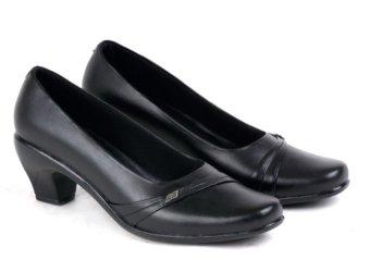 Garucci Sepatu Formal/Pantofel Wanita - Kulit Asli Gln 4180 Hitam