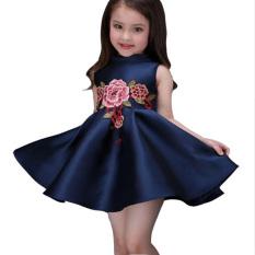 Gaun gadis Bunga Bordir
