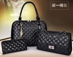 Genevieve Dc1707 Black - Handbags Buy 1 Get 3 (Handbags, Selempang Dan Dompet)