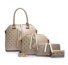 Genevieve Store-Genevieve 90084 Gold-Tas Set 4in1 Cantik-Blink On Bags