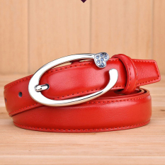 Geniue Leather Belt New Fashion Second Cow Leather Women Leather Skinny Waist Belt Buckle Waistband - Intl