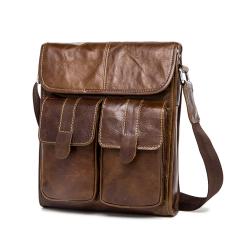 Genuine Leather Men Bags Fashion Male Messenger Bags Men's Small Briefcase Man Casual Crossbody Shoulder Handbag - Intl
