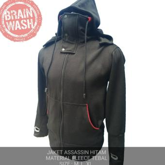 Gnz sweater ninja Brain wash hitam