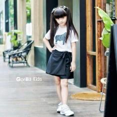 Gorilla kids Baju Kaos anak Character  White