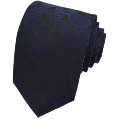Gracefulvara Jacquard Woven Fashion Men's Wedding Party Silk Tie Classic Necktie (Royalblue)