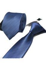 "Gracefulvara Men Business Striped Suits Tie Jacquard Woven Necktie 58"" – Blue & Grey"