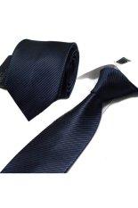 """Gracefulvara Men Business Striped Suits Tie Jacquard Woven Necktie 58"""" – Dark Blue"""