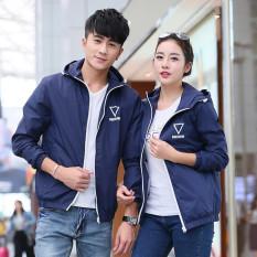 Grandwish Women Lightweight Jackets Hoodies Couple Coat Sportswear Waterproof S-3XL (Blue) - Intl