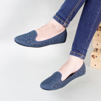 Gratica Sepatu Flat Shoes AL14 - Navy