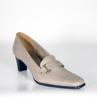 Grey Pantofel Heels - Genuine Leather