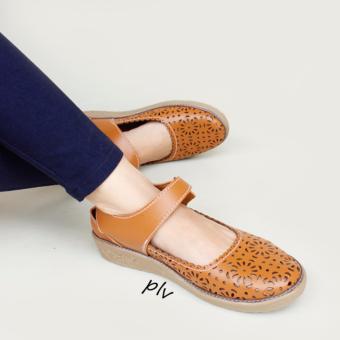 Grivera Sepatu Wanita Flat Shoes Laser MY81 - Tan