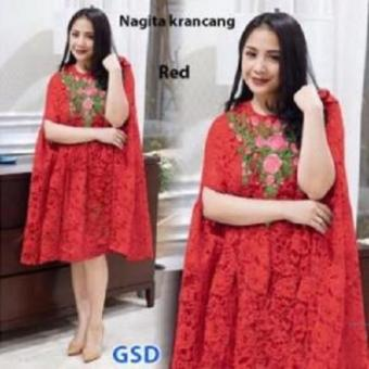 Harga Grosir Dress-Nagita Krancang Red - PriceNia.com 8264805833