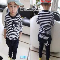 GSD-Baju Setelan Anak Laki-laki-St Marine Salur Black