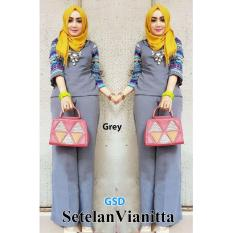 GSD-Baju Setelan Muslim Wanita-Set Vianitta Grey