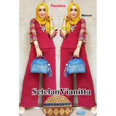 GSD-Baju Setelan Muslim Wanita-Set Vianitta Maroon