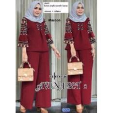 GSD- Baju Setelan Muslim Wanita- Set Vina  Maroon