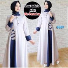 GSD-Maxi Gamis Syari Simple Elegant-MAxi Afida Abu