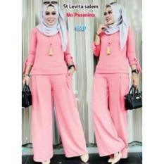 GSD-Setelan Baju Muslim Polos Wanita-Set Levita Salem