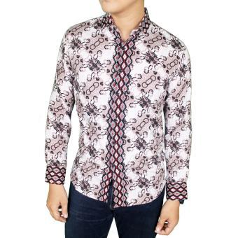 Gudang Fashion - Batik Pria Modern Lengan Panjang - Krem