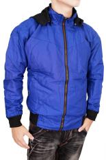 Gudang Fashion - Jaket Parasut Terbaru Bolak Balik - Hitam - Biru