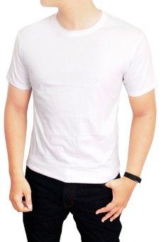 Gudang Fashion - Kaos Polos Pendek Pria O-Neck - Putih