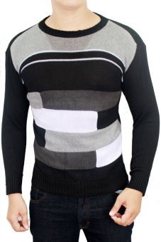 Gudang Fashion - Sweater Fashion Male - Hitam Kombinasi