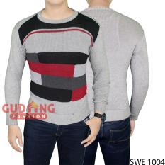 Gudang Fashion - Sweater Sweatshirt Casual Pria - Abu