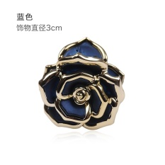 Hair clip gripper bangs small hairpin headdress flower top adultfresh and elegant ladies hairpin hair caught (Blue) - intl