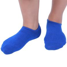 Hang-Qiao Fashion 1 Pair Men Boat Socks Low Cut Casual Ankle Socks (Blue) - Intl