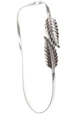 HANG-QIAO Metal Waist Chain Leaf Belt (Silver)