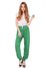 Hang-Qiao Women Loose Pants Yoga Sport Dance Bloomers Green
