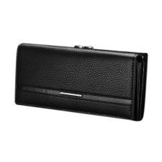 Happycat 2016 New Hot Sale Women High Quality Solid Button Leather Hand Bag Long Clutch Wallet Purse 003625_B - intl