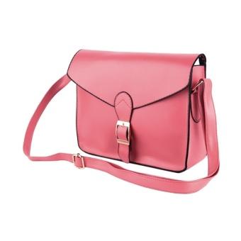 Happycat Preppy Style Women Lady Designer Satchel Shoulder Bags Messager Purse Handbag Tote Bag (Orange) (One Size) - Intl