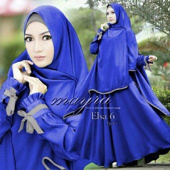 Hasanah Gamis Syari Elasa - Blue - Gamis