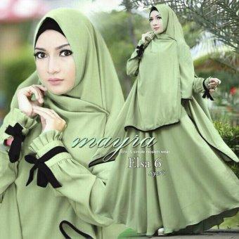 Hasanah Gamis Syari Elsa - Green - Gamis