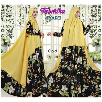 Hasanah Gamis Syari Tasmira - Yellow - XL
