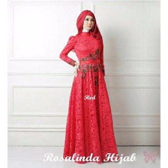 Hasanah Maxi Rosalinda - Merah - Gamis