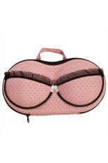 Hengsong Portable Travel Protect Bra Pattern Holder Bag Pink