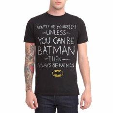 Hequ Funny T Shirt Men's Fashion T-shirt Batman Be Yourself T-Shirt Men's Short Sleeve Shirt Black - Intl