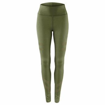 Hequ Women Gym Exercise Sports Stretch Pants Running Yoga Fitness Leggings Army Green - intl
