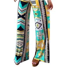 Hequ Women Summer Soft Geometry Pattern Printed Casual Pants Multicolor - Intl