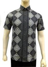 Herman Batik B7845 Baju Kemeja Batik Slimfit Pria Fashion Jeans Muslim Koko