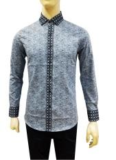 Herman Batik Kemeja Batik Slimfit 8168 Pria Kombinasi Muslim Koko Jeans
