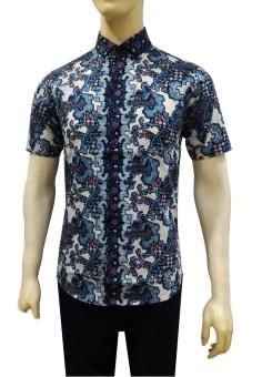 Kemeja Batik Slimfit Sw1080 White Kombinasi Muslim Koko Jeans Pria Harga Kemeja .