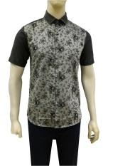 Herman Batik Kemeja Batik Slimfit B7883 Baju Fashion Pria Muslim Koko Jeans